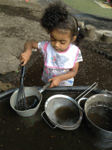 Delicious creations in our mud kitchen