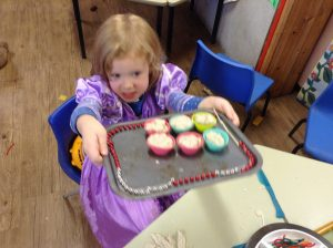 baking with play dough